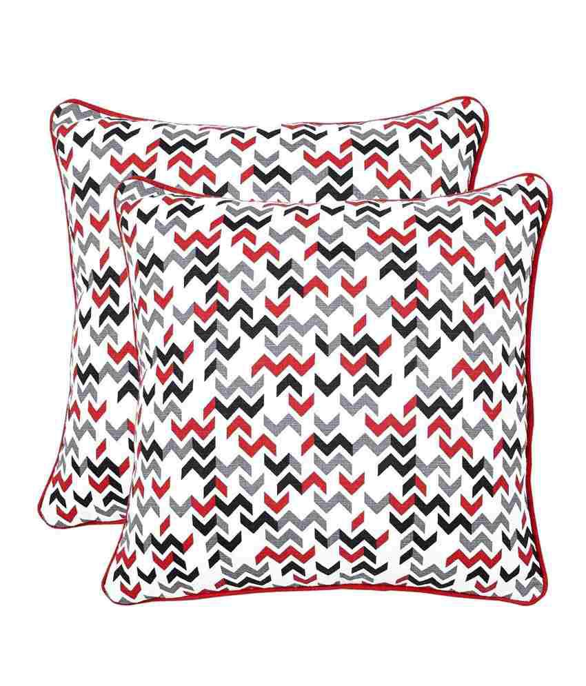 @Home by Nilkamal Multicolor Cotton Cushion Covers