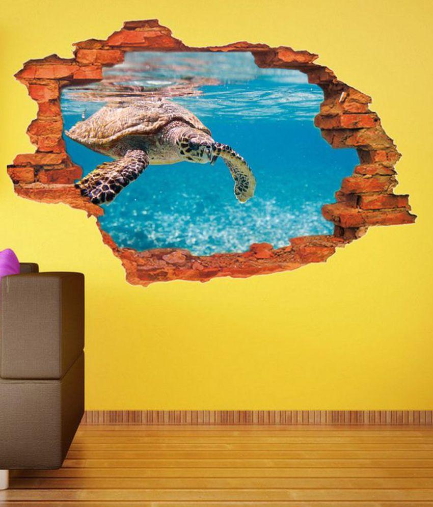 Impression Wall Textured PVC Aqutic 3D Art Wall Sticker - Buy ...