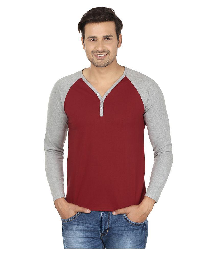 Jangoboy Maroon Henley T Shirt
