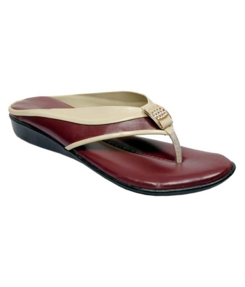 RSC Maroon Wedges Heels