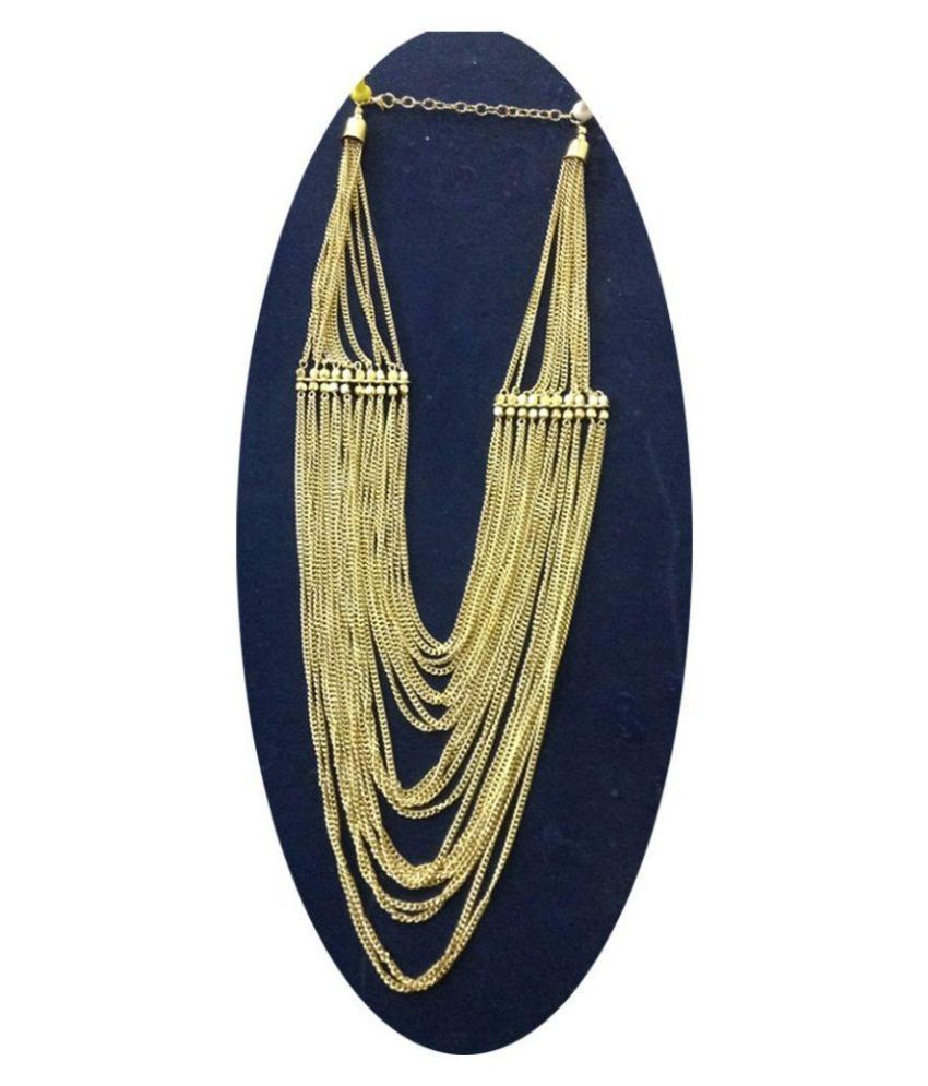 Shilpi Handicrafts Golden Alloy Necklace