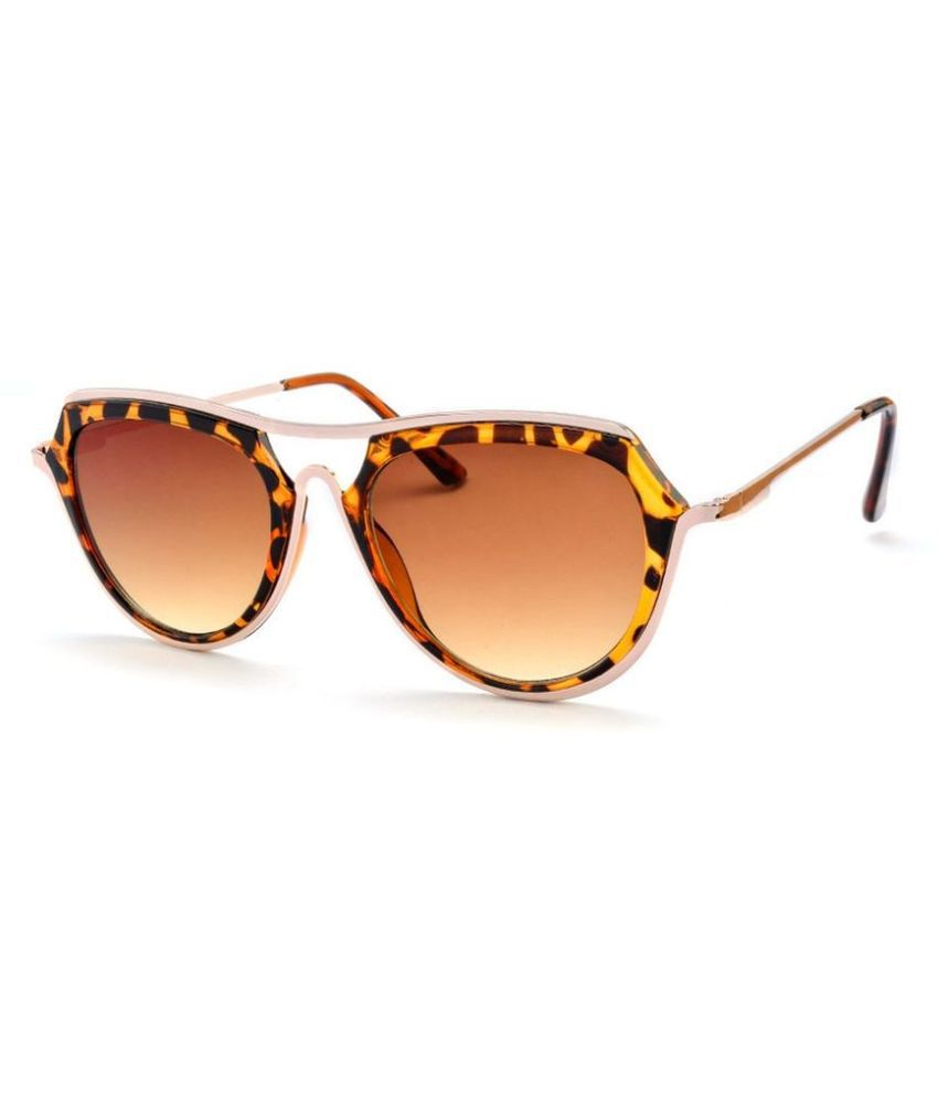 Stacle Brown Aviator Sunglasses ( STCH002 Col3 )