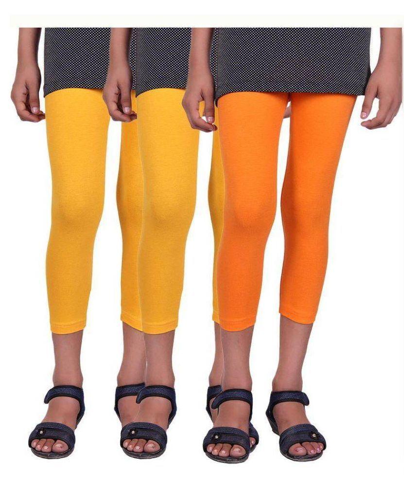 Alisha Multicolour Cotton Lyrca Capri - Pack of 3