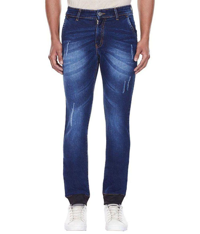 Annai Lakshmi Exports Blue Slim Fit Jogger Jeans