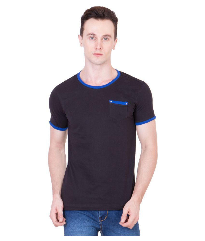 Ganzm Black Round T Shirt