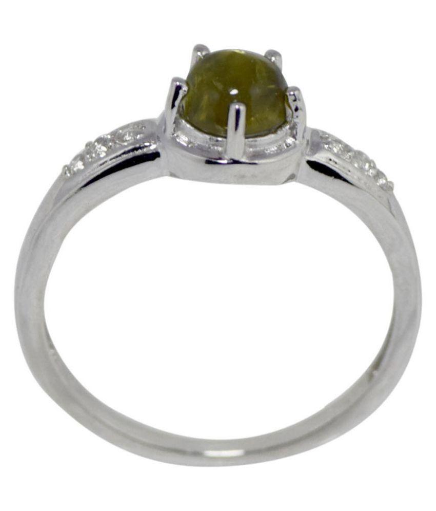 Shine Jewel White Silver Ring