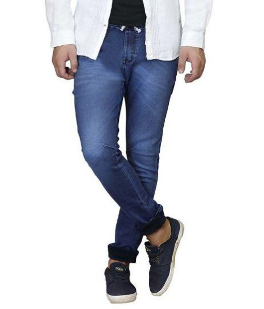 Trusted Indian Sellers Blue Regular Fit Washed Jeans