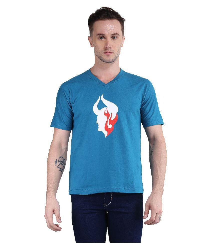 British Terminal Blue V-Neck T Shirt