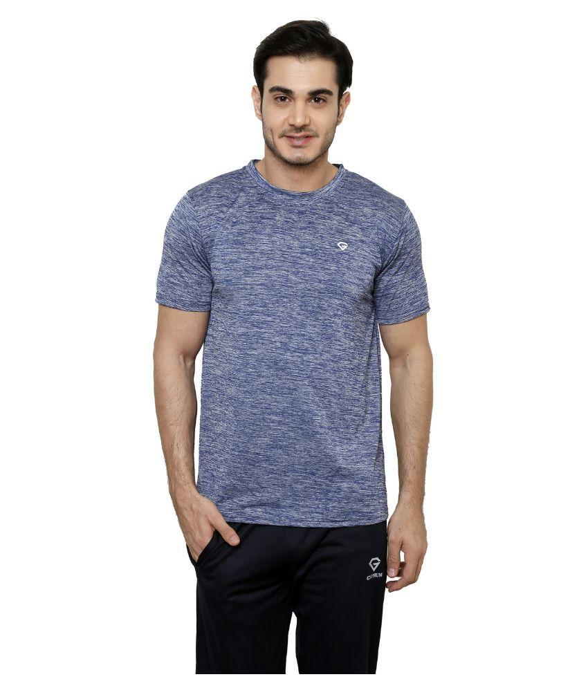 Gypsum Blue Round T Shirt
