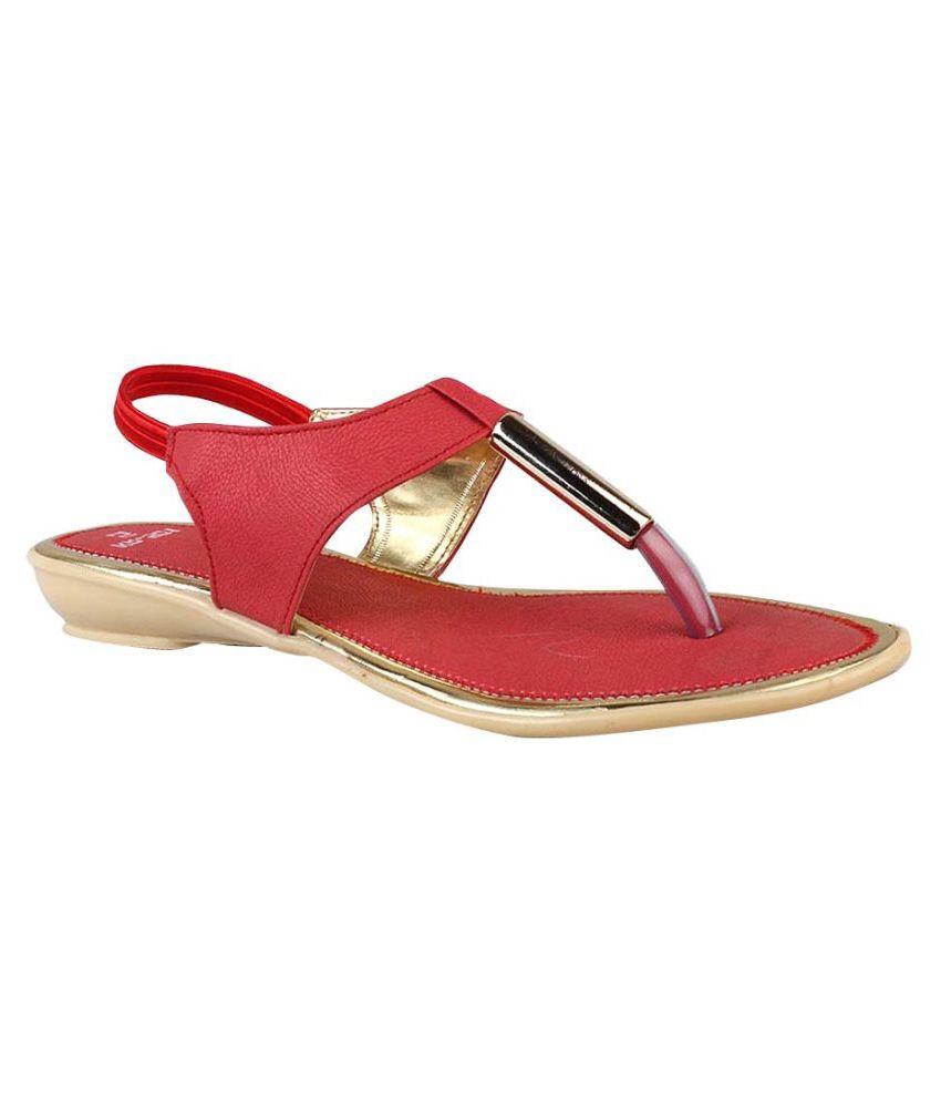 Smart Red Wedges Heels