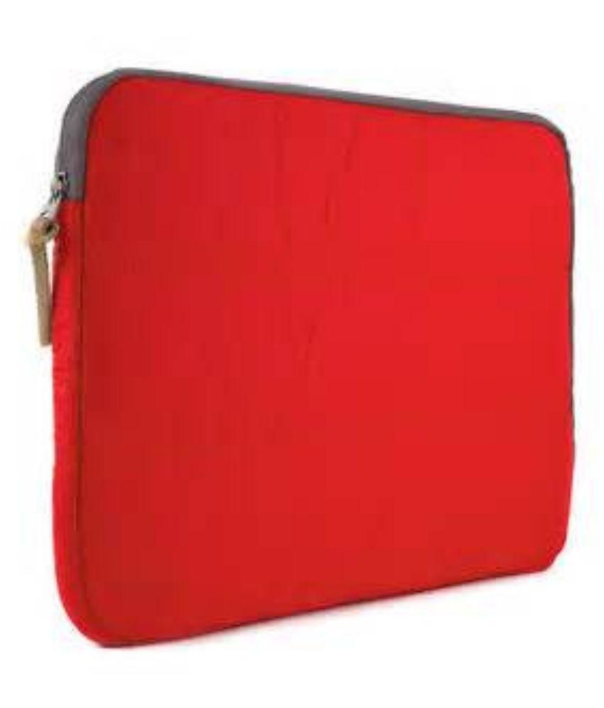 Techbyte Red Fabric Laptop Sleeve