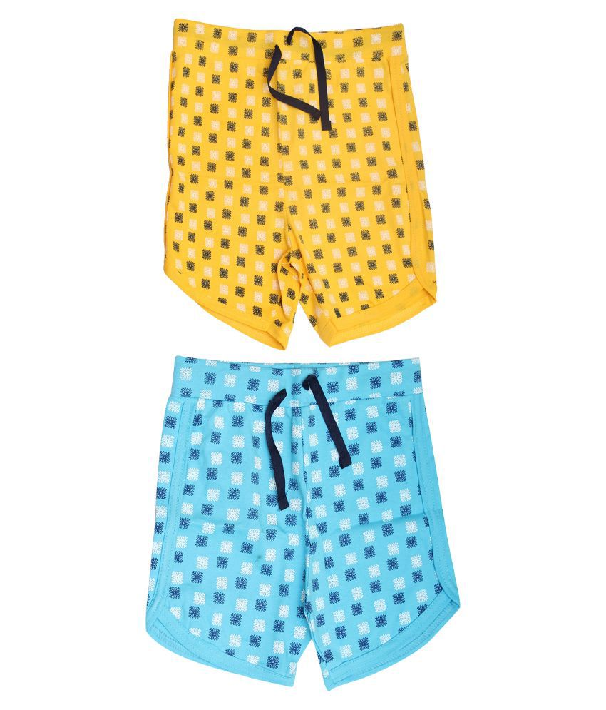 Babeezworld Cotton Multicolor Shorts-Pair Of 2