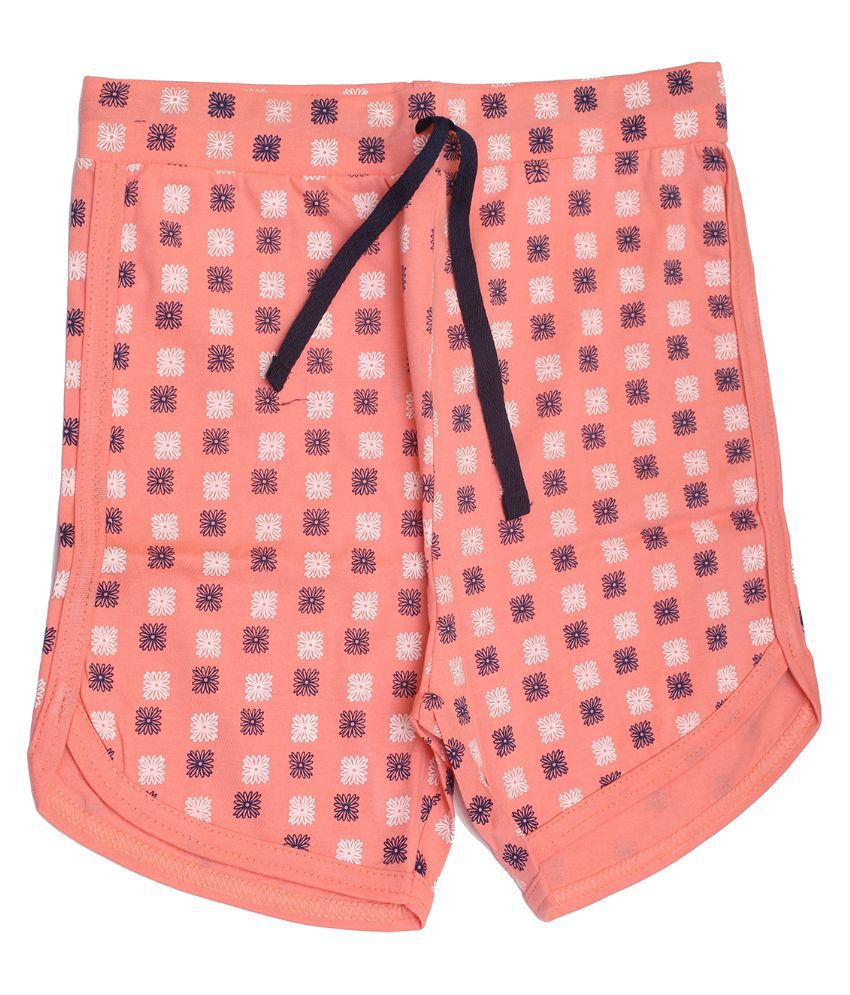 Babeezworld Cotton Pink Shorts For Girls