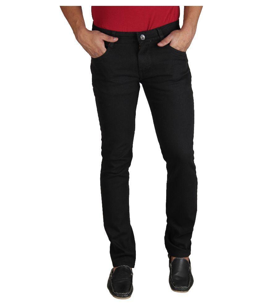 Fever Black Slim Fit Washed Jeans