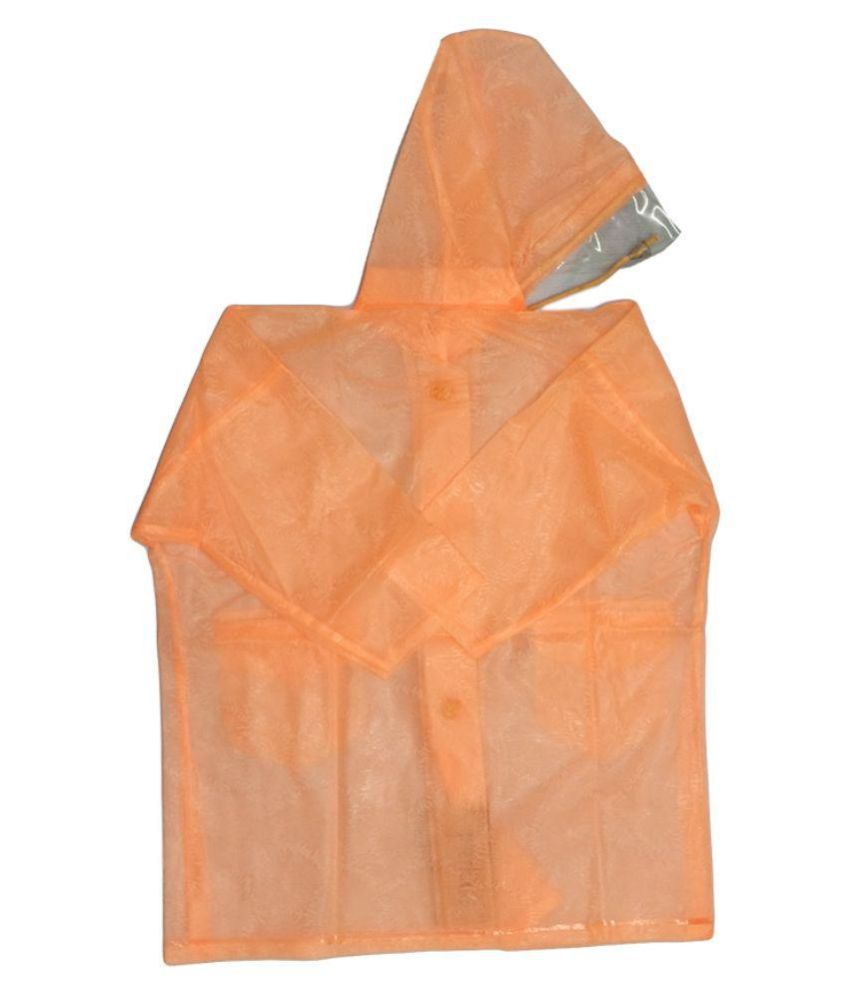 Prince Rainwear Orange Nylon Rainwear for Girls - Pack of 3