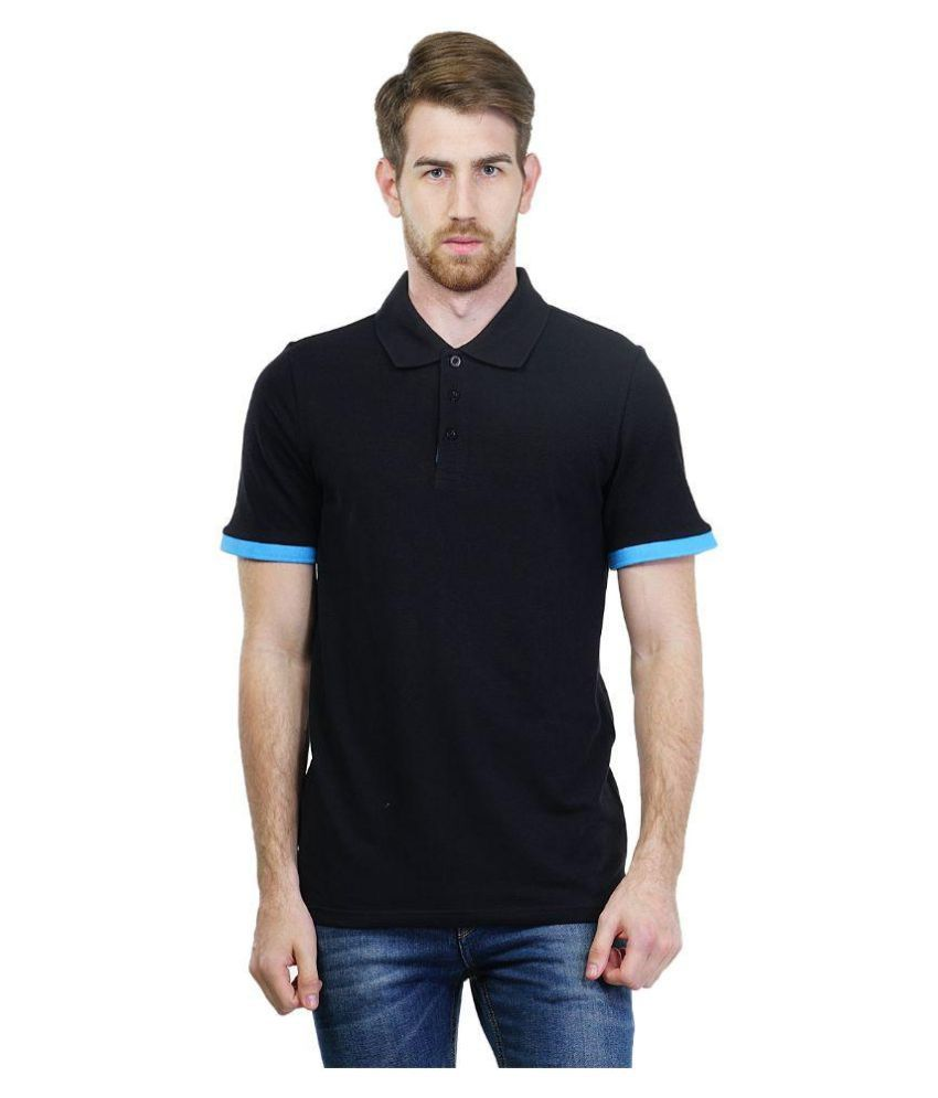 Puma Black Polo T Shirts