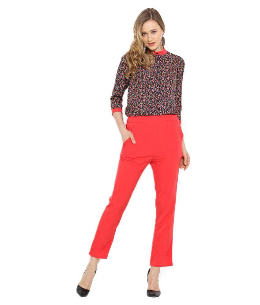Trend Arrest Multi Color Polyester Jumpsuits