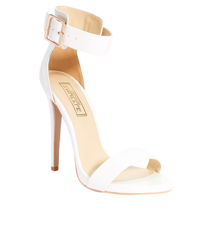 Truffle Collection White Stiletto Heels