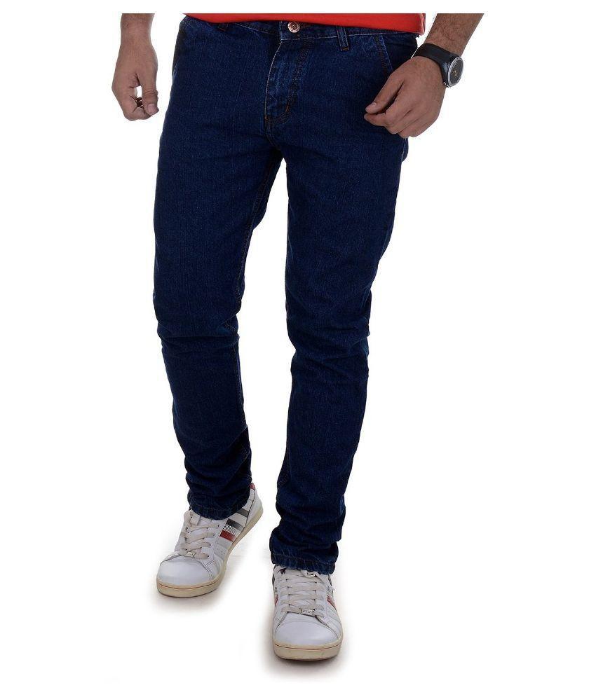 Dtusk Blue Regular Fit Distressed Jeans