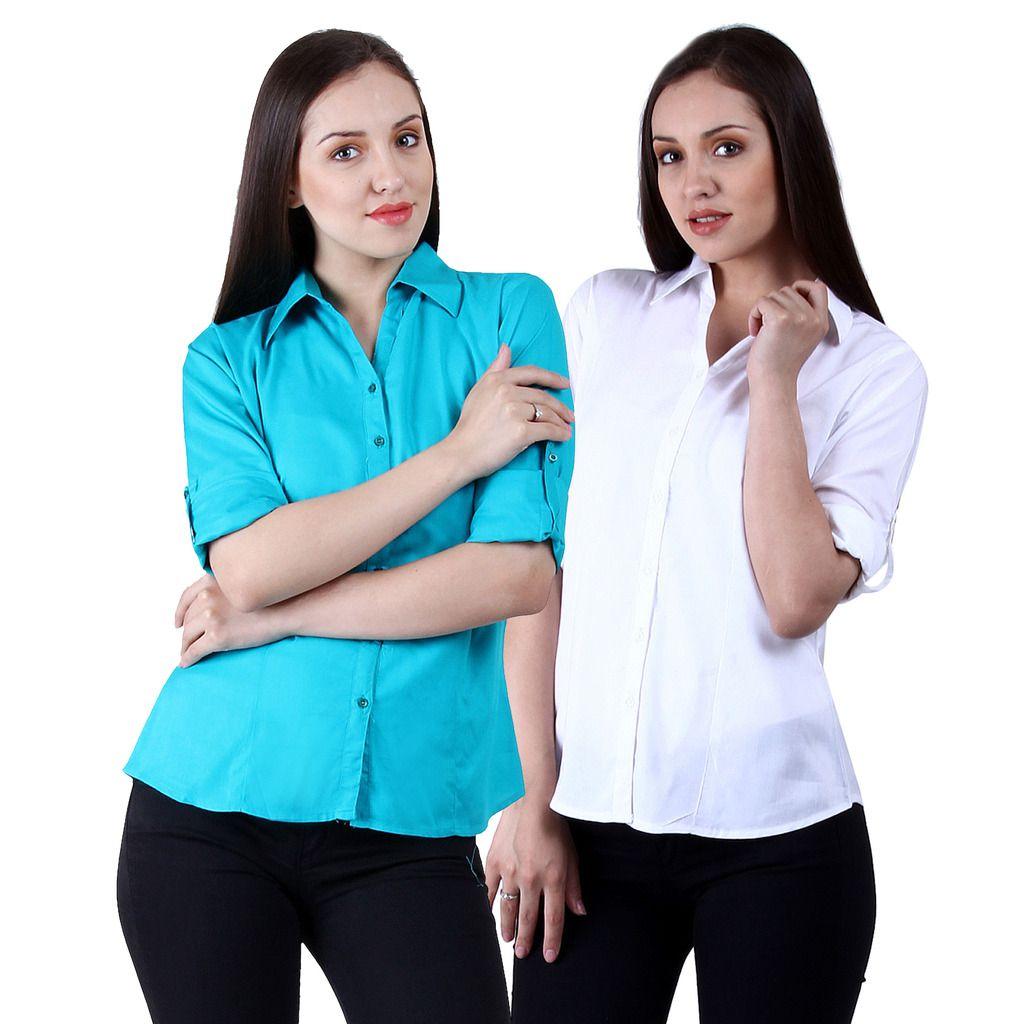 NumBrave Multi Color Viscose Shirts