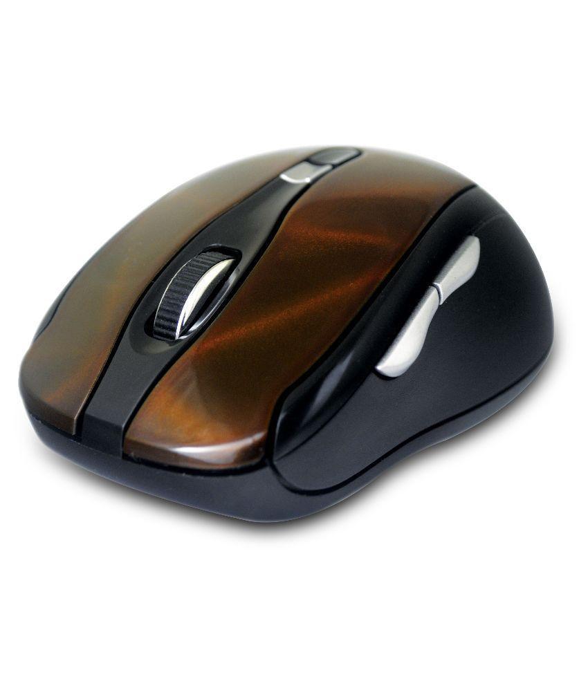 Amkette Dynamo 7D Multifunctional Wireless Mouse-Brown