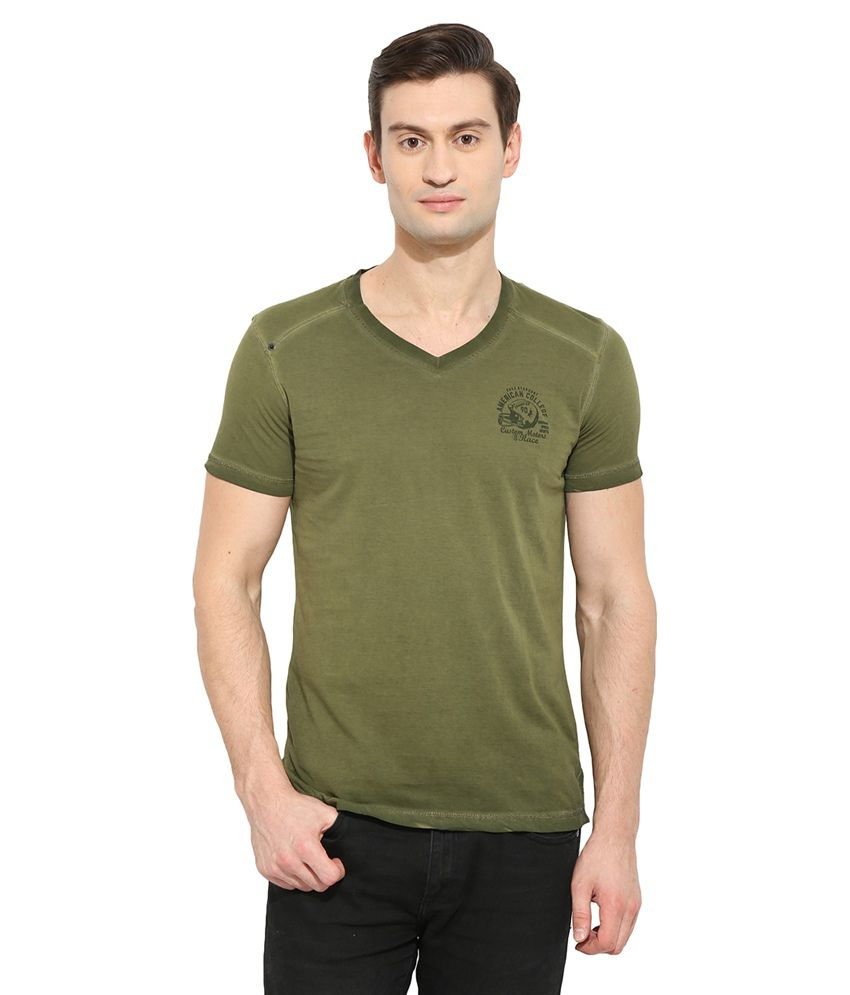 Duke Green V-Neck T Shirt