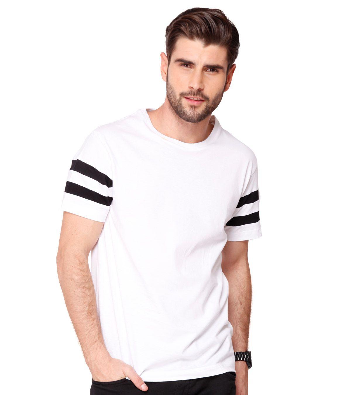 Bewakoof.com White Round T Shirt
