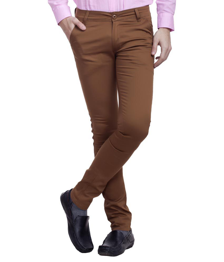 Nimegh Brown Slim Fit Chinos