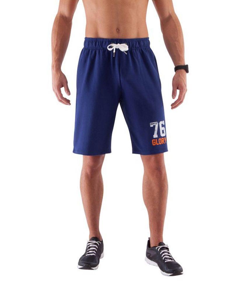 DOMYOS Dry Skin Cot Pr Fw Men's Strength Training Shorts By Decathlon