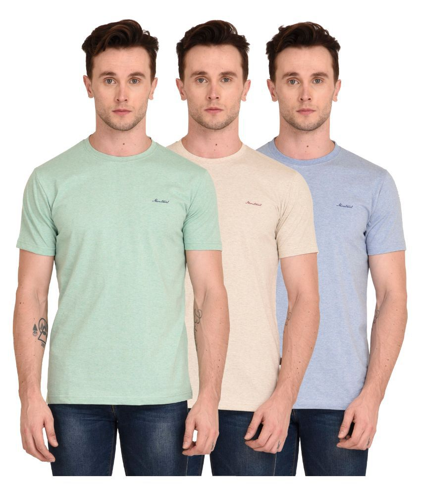 Montreal Multi Round T Shirt Pack of 3