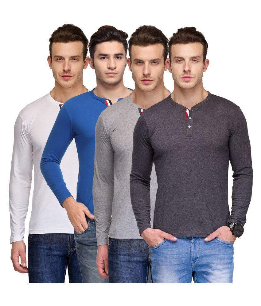 TSX Multi Henley T Shirt Pack of 4