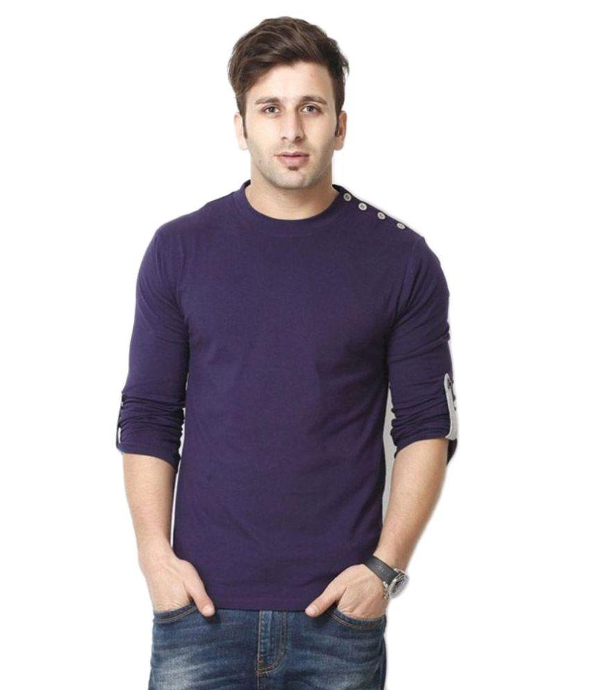 Gritstones Purple Round T Shirt