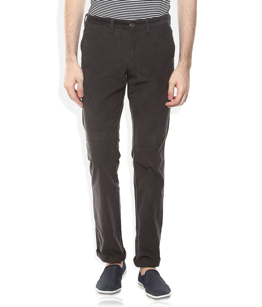 Indian Terrain Grey Slim Fit Chinos
