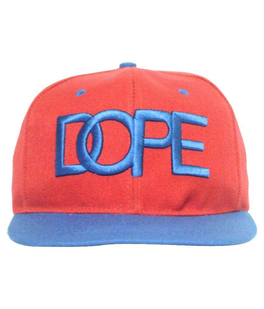 Wild & Wacky Red Cotton Hip Hop Snap Fit Cap