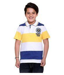 Kids-17 Boys Multicolor Cotton Polo T-Shirt