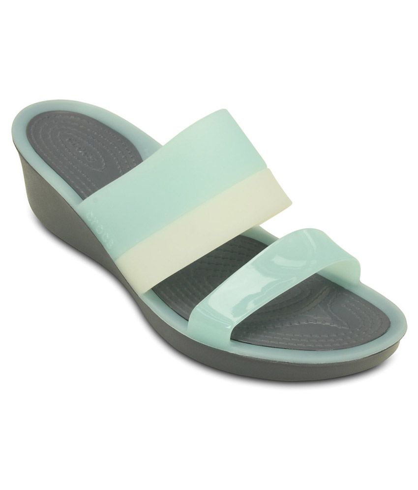Crocs Blue Heeled Slip-on & Pump Relaxed Fit