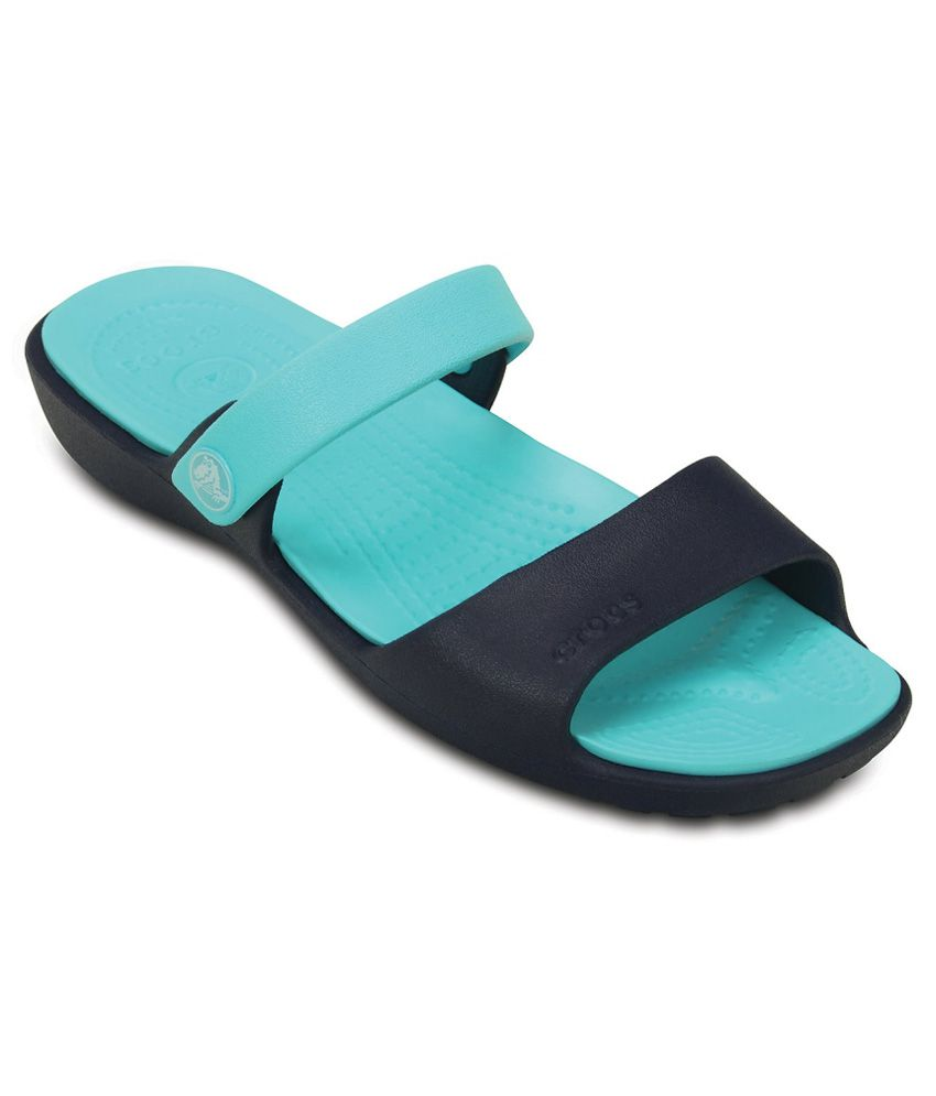 Crocs Green Slippers & Flip Flops Relaxed Fit