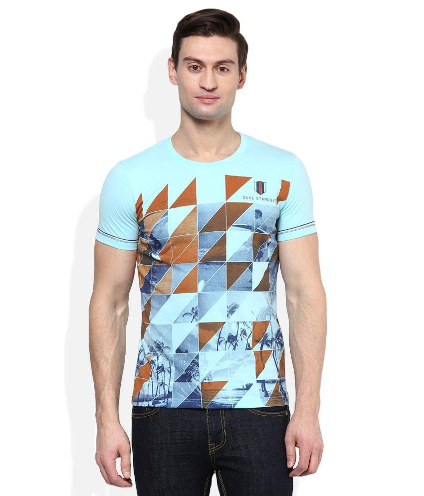 Duke Blue Round Neck T Shirt