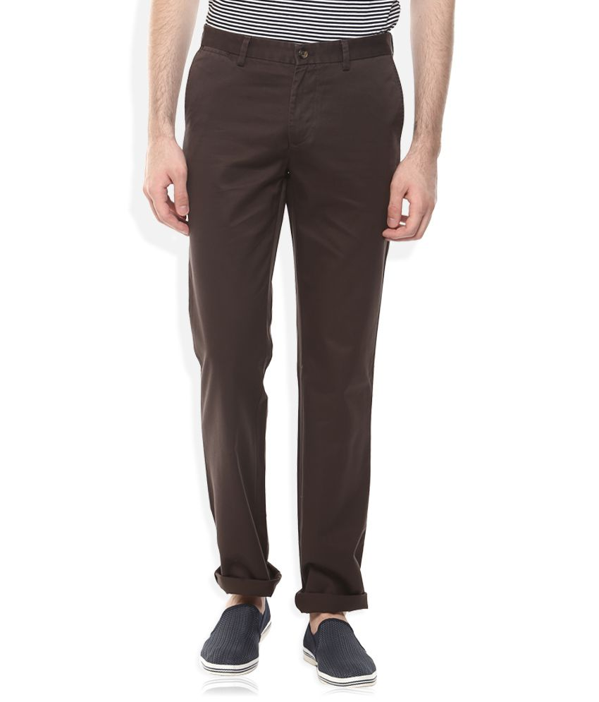 Indian Terrain Brown Regular Fit Chinos