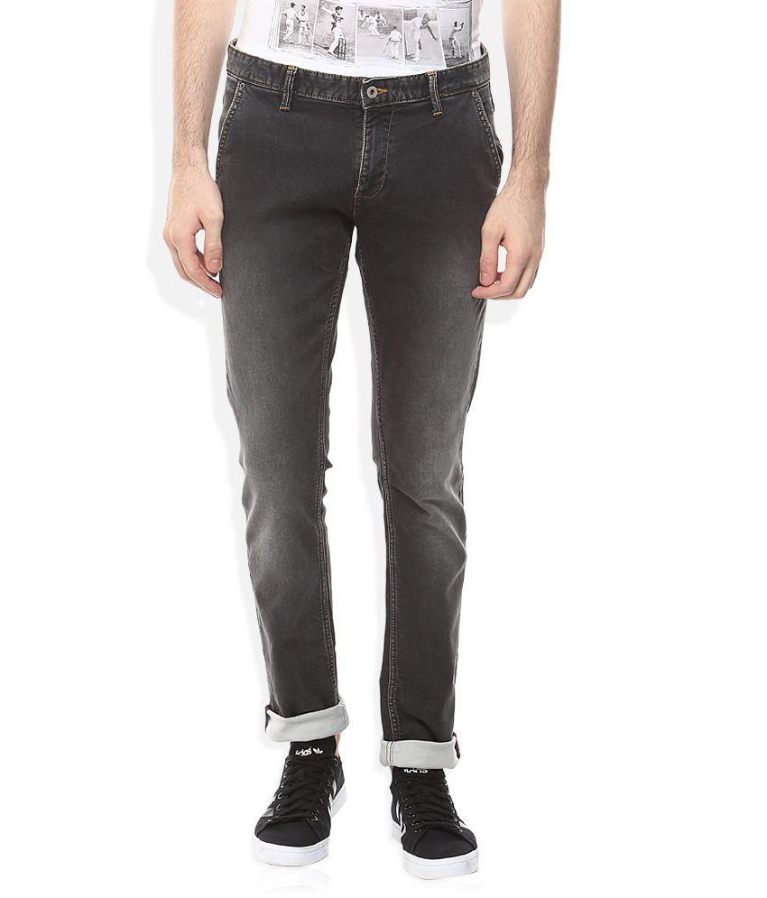 Indian Terrain Grey Slim Fit Jeans