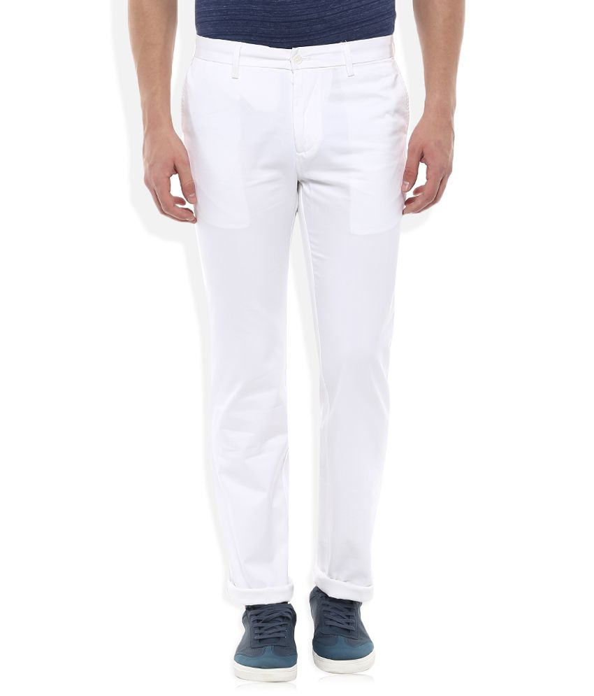 Indian Terrain White Regular Fit Chinos