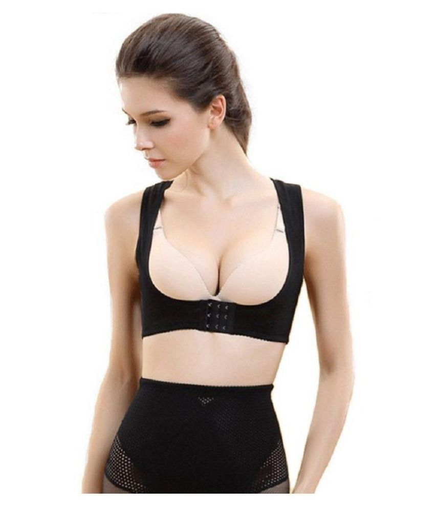 Jern Black Nylon Pushup Bra