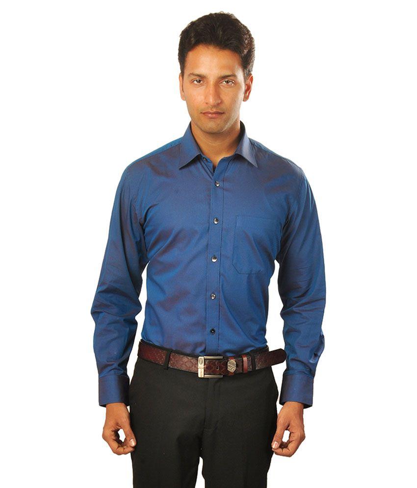 Louis Philippe Blue Formal Regular Fit Shirt
