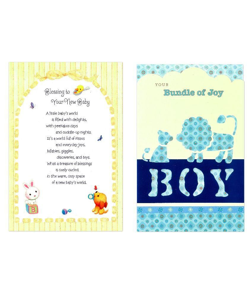 Archies new born baby greeting cards pack of 2 buy online at best archies new born baby greeting cards pack of 2 m4hsunfo