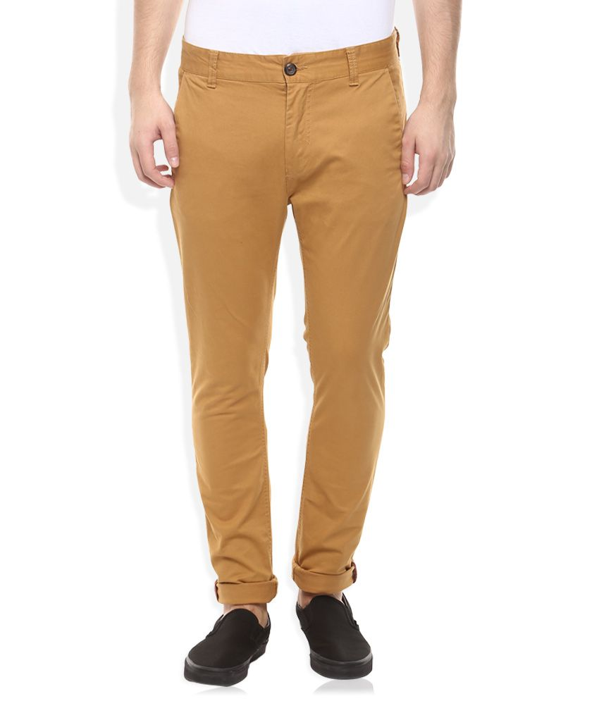 Breakbounce Khaki Slim Fit Casuals Chinos