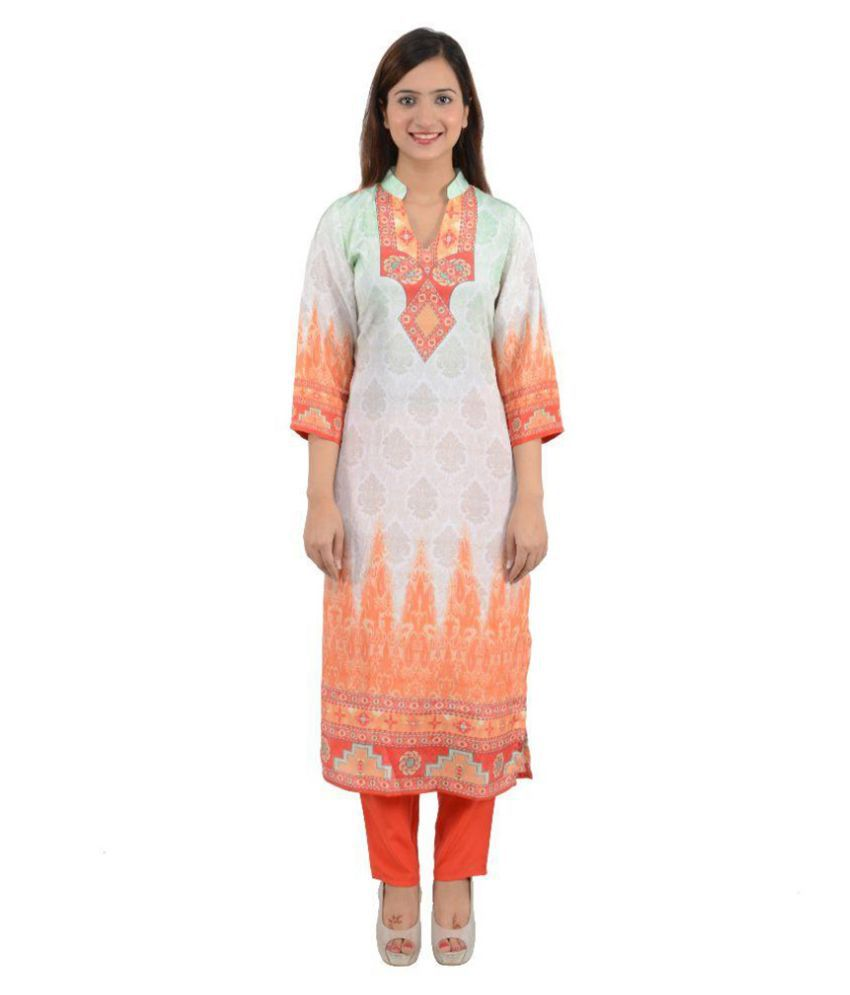 Comfty Multicoloured Art Silk Kurti With Pants
