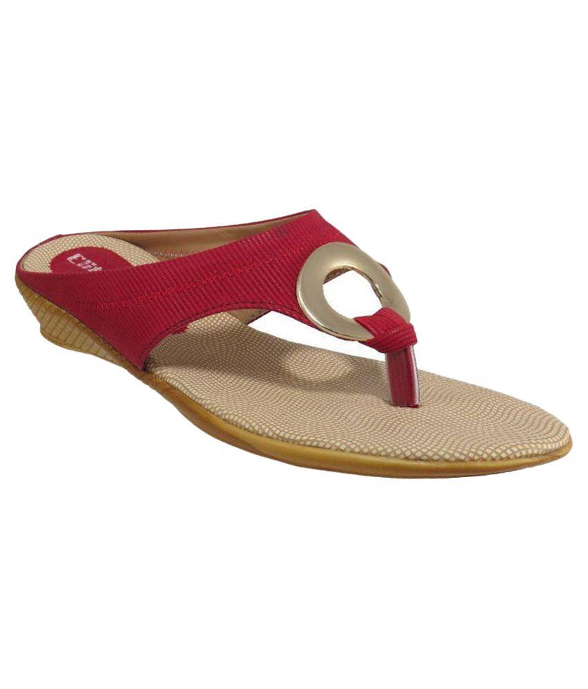 Elite Red Wedges Heels