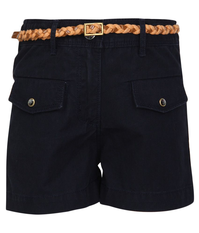 Nauti Nati Navy Shorts With Belt