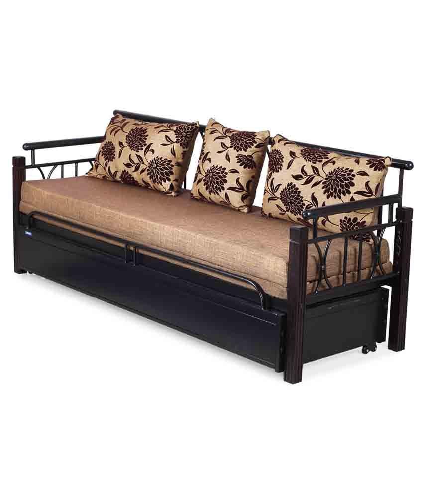 Nilkamal Flint Fabric Sofa Cum Bed