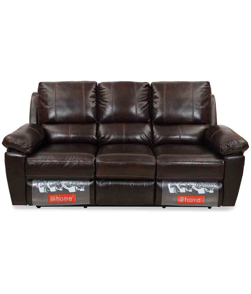 Home By Nilkamal Marshall Leatherette 3 2 Recliner Sofa Set Buy Home By N